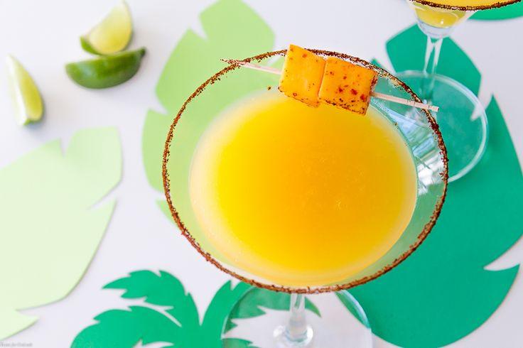 Chili Lime Mango Martini via @thyme4cocktails