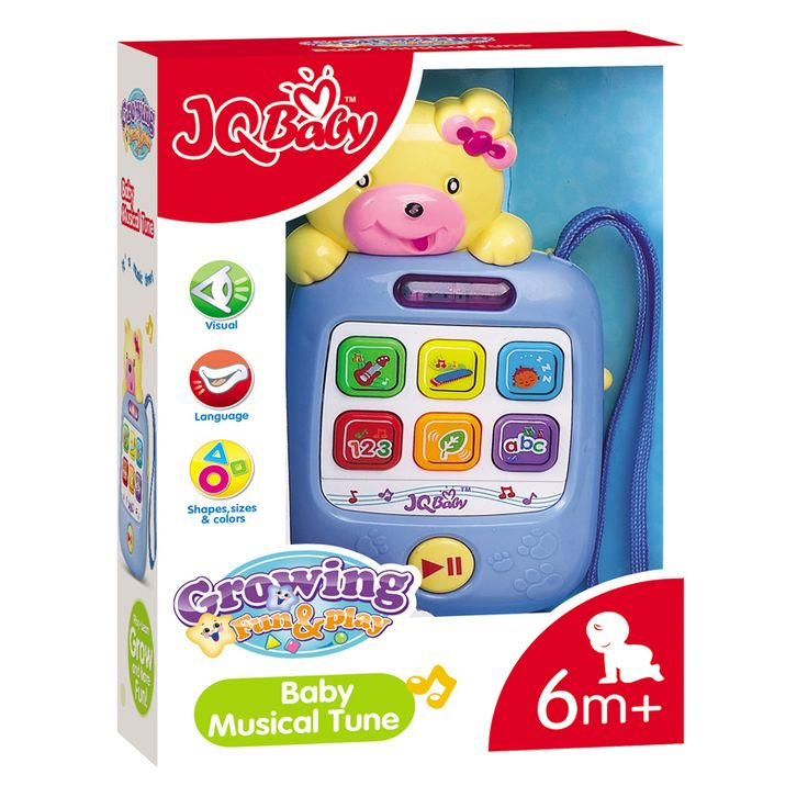 Hot Selling 6m+ Baby Rattle Toys Baby Musical Tune For Jun Da Long Baby Toys