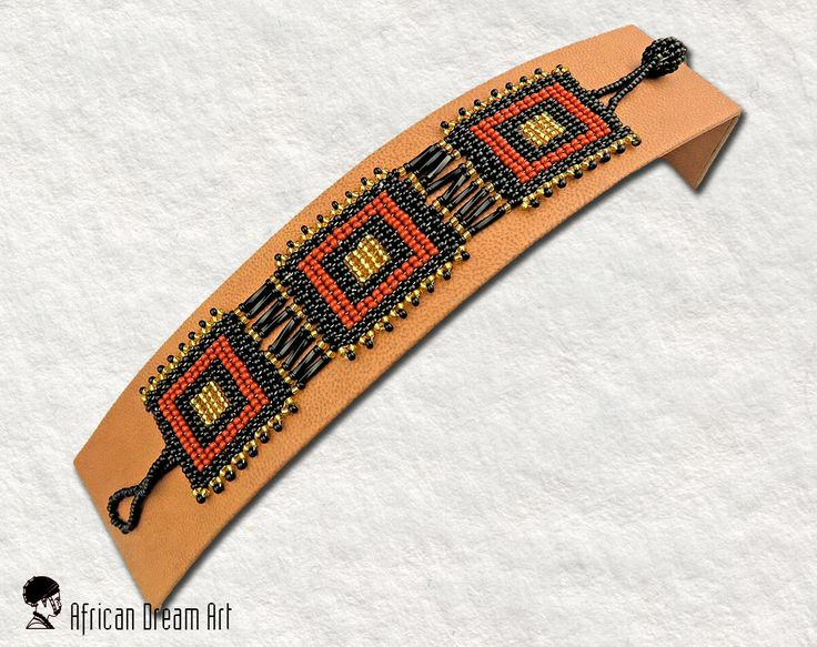 SPECIAL OPENING DISCOUNT !  African Beaded Bracelet Flat - African Colours.  Zulu Ethnic Style  Length is 18.5 cm/7.3 inch. Width is 2.8 cm/1.1 inch  Made by Zulu Artists in South Africa  Our items are 100% handmade. Therefore, variances in size, color, texture and style will occur.  All items are hand crafted from the Zulu tribe in South Africa.  All items will be posted from South Africa.