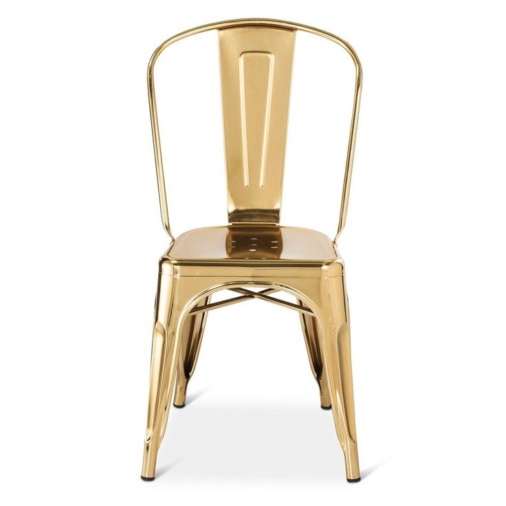 Carlisle Couture High Back Metal Dining Chair   Gold