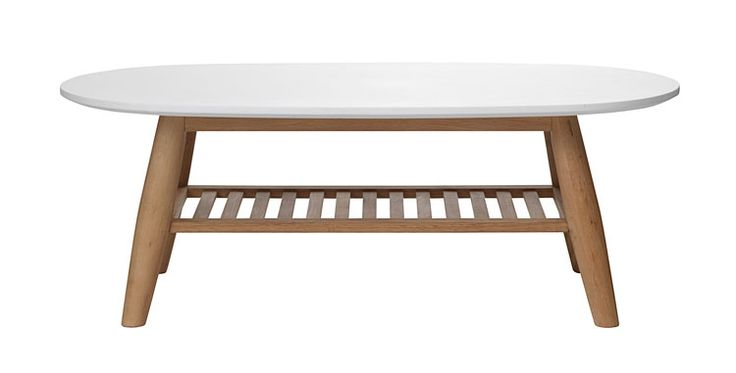 Birch and white colored coffee table from Kruunukaluste
