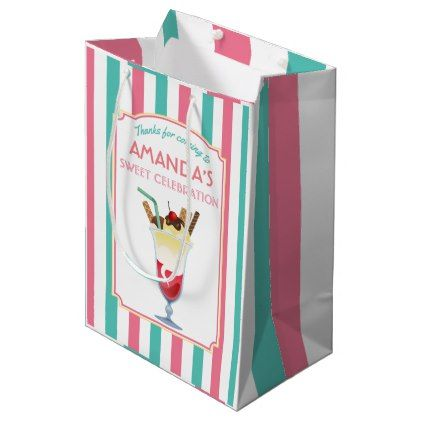 #party - #Ice Cream Birthday Party personalized Medium Gift Bag