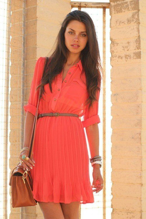 amazing coral dress