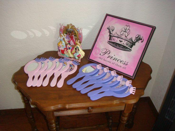 Princess Party activity & favor idea:  -decorate mirror (& brush?)