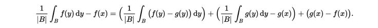 In mathematics, the Lebesgue differentiation theorem is a theorem of real analysis, which states that for almost every point, the value of an integrable function is the limit of infinitesimal averages taken about the point. The theorem is named for Henri Lebesgue.  The theorem has spiritual properties as well. This portion of the proof for the theorem may be used as a quickener for generating a beam of consciousness. You are a mathematical hologram.