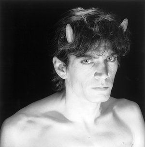 Whipping up a storm: how Robert Mapplethorpe shocked America | Art and design | The Guardian (Mapplethorpe's 1985 self-portrait.)