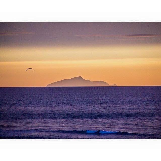 Kapiti Island from Foxton Beach, Manawatu