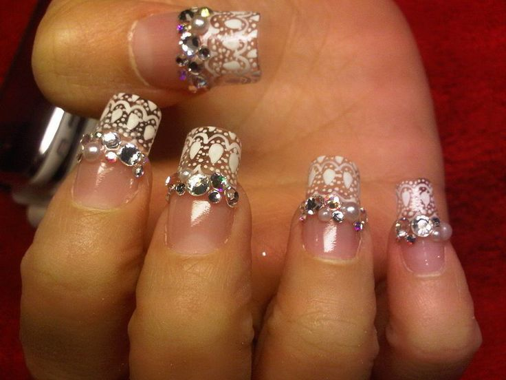 10 best designs for rhinestone nails images on pinterest french appealing rhinestone nail designs wedding prinsesfo Gallery