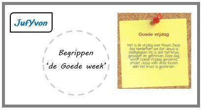©JufYvon: Begrippen 'de Goede week'