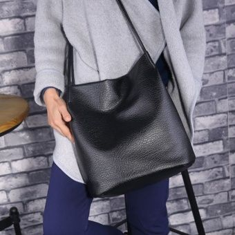 Buy Fashion Women PU Leather Cross Body Large Capacity Shopping Bag(Black) online at Lazada. Discount prices and promotional sale on all. Free Shipping.