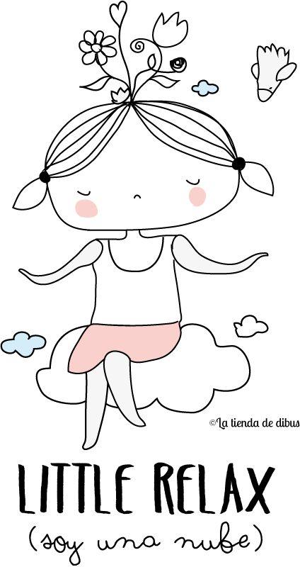 Relax yourself / soy una nube http://www.latiendadedibus.es/2014/04/proposito-encontrar-cinco-minutos-para.html