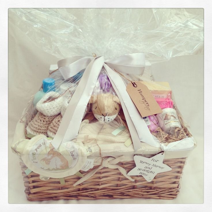 Gift wrapped Deluxe Mummy & Me Bunny Hamper