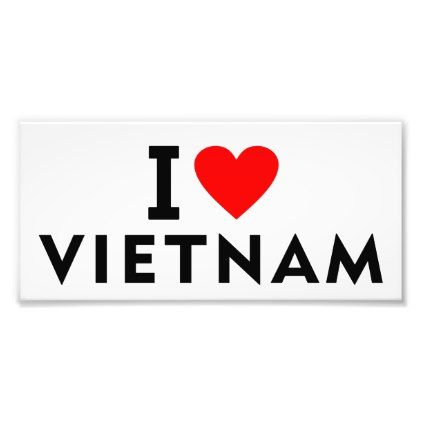 I love Vietnam country like heart travel tourism Photo Print  $2.35  by tony4urban  - cyo customize personalize unique diy idea
