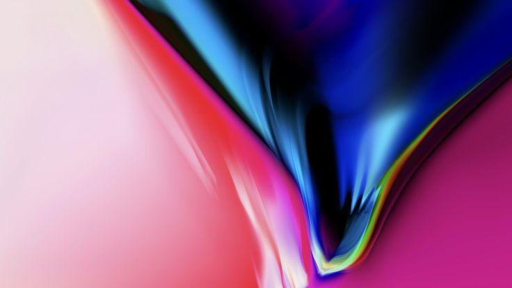 iPhone X wallpaper, iPhone 8, iOS 11, colorful, HD (horizontal)