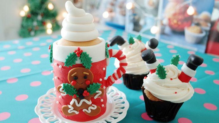 크리스마스 머그 케이크 만들기 : 산타 컵케이크 만들기 : 레이디디저트 Christmas mug cake