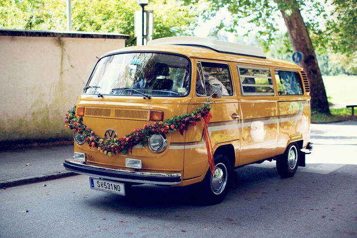 Hochzeit Auto VW Bus
