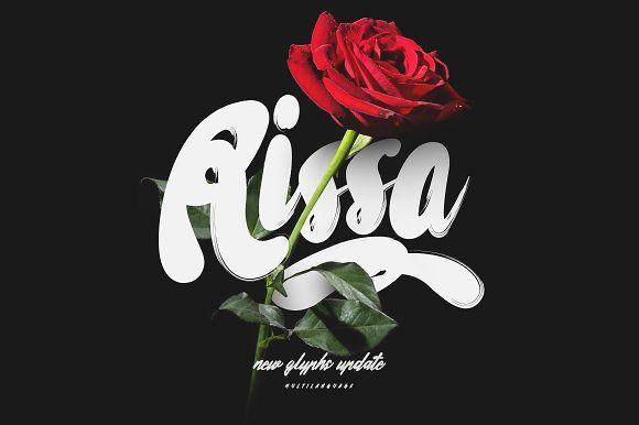 Rissa Typeface + Swashes (Update) by Maulana Creative on @creativemarket