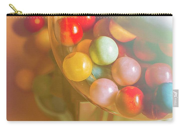 Retro Carry-all Pouch featuring the photograph Vintage Gum Ball Candy Dispenser by Jorgo Photography - Wall Art Gallery