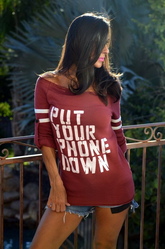Put Your Phone Down. Old School No by FiredaughterClothing on Etsy
