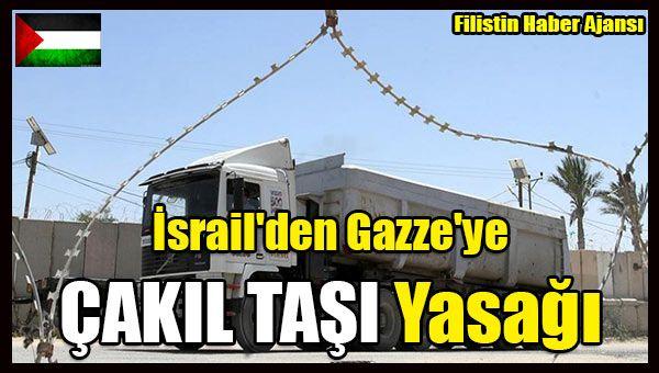 Korsan İsrail'in, Gazze Şeridi'ne çakıl taşı girişini yarından itibaren durdurma kararı aldığı bildirildi.  Gazze Ürün Girişi Kurulu Başkanı Raid Futuh yaptığı açıklamada,   #filistin haber #gazze abluka #israil filistin ambargo #israil gazze