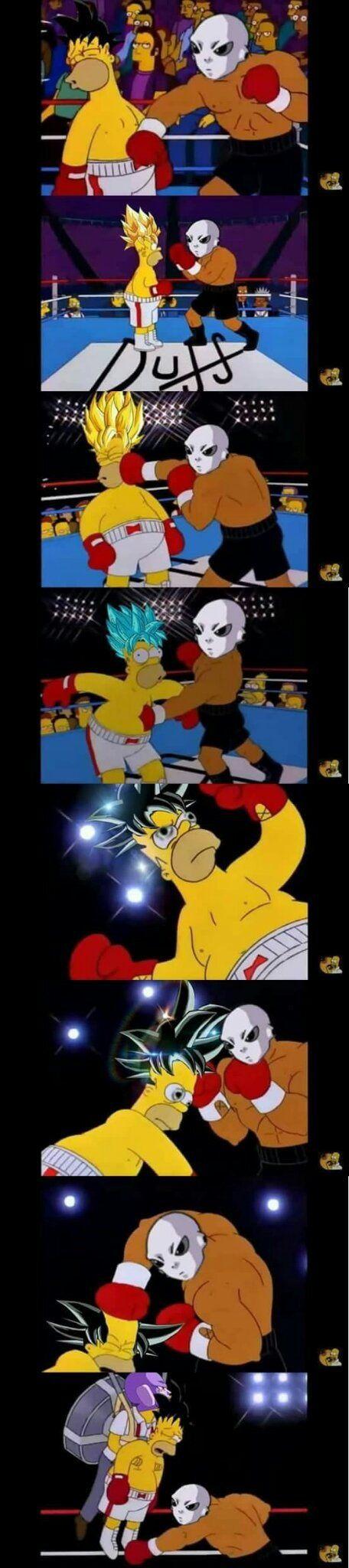 Resume de la pelea de goku vs jire xD - meme