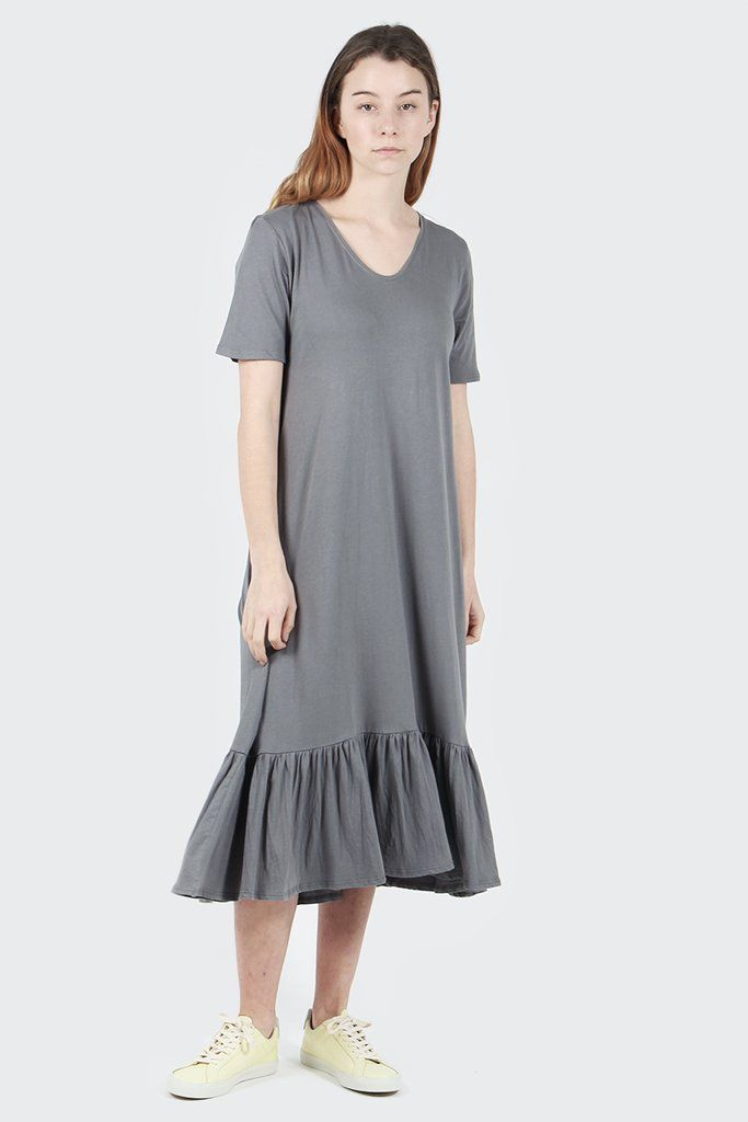GOOD AS GOLD | Streetwear, Fashion, Sneakers & Accessories — Building Block Gather Hem Dress - dove grey