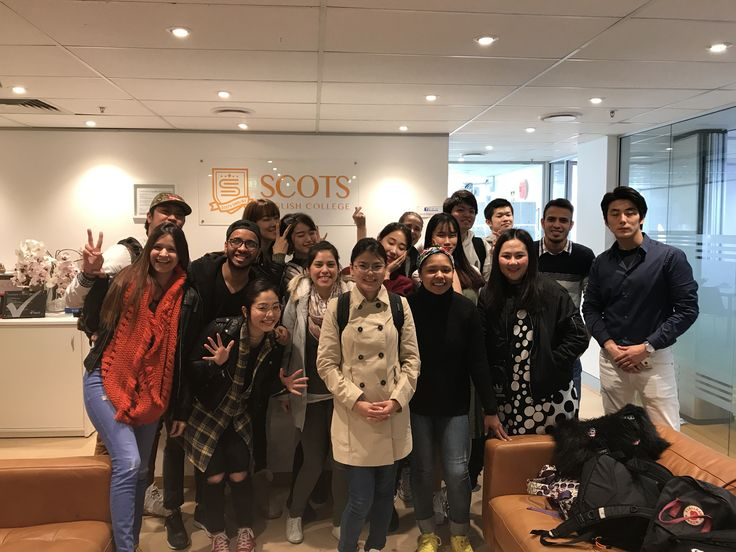 The best Pre-intermediate class saying goodbye to students from Korea and Japan ❤  #graduate #ELICOS #scotsenglishcollege