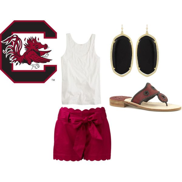 """""""gamecock game attire!"""" by ceahannahgrace on Polyvore"""