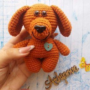 Собачка амигуруми схема игрушки крючком
