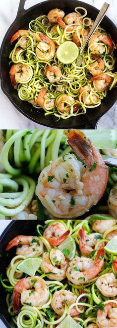 Brown Butter Cilantro Lime Shrimp Zoodles – BEST zoodle recipe ever with big juicy shrimp sauteed in brown butter, cilantro and lime juice. SO good | http://rasamalaysia.com