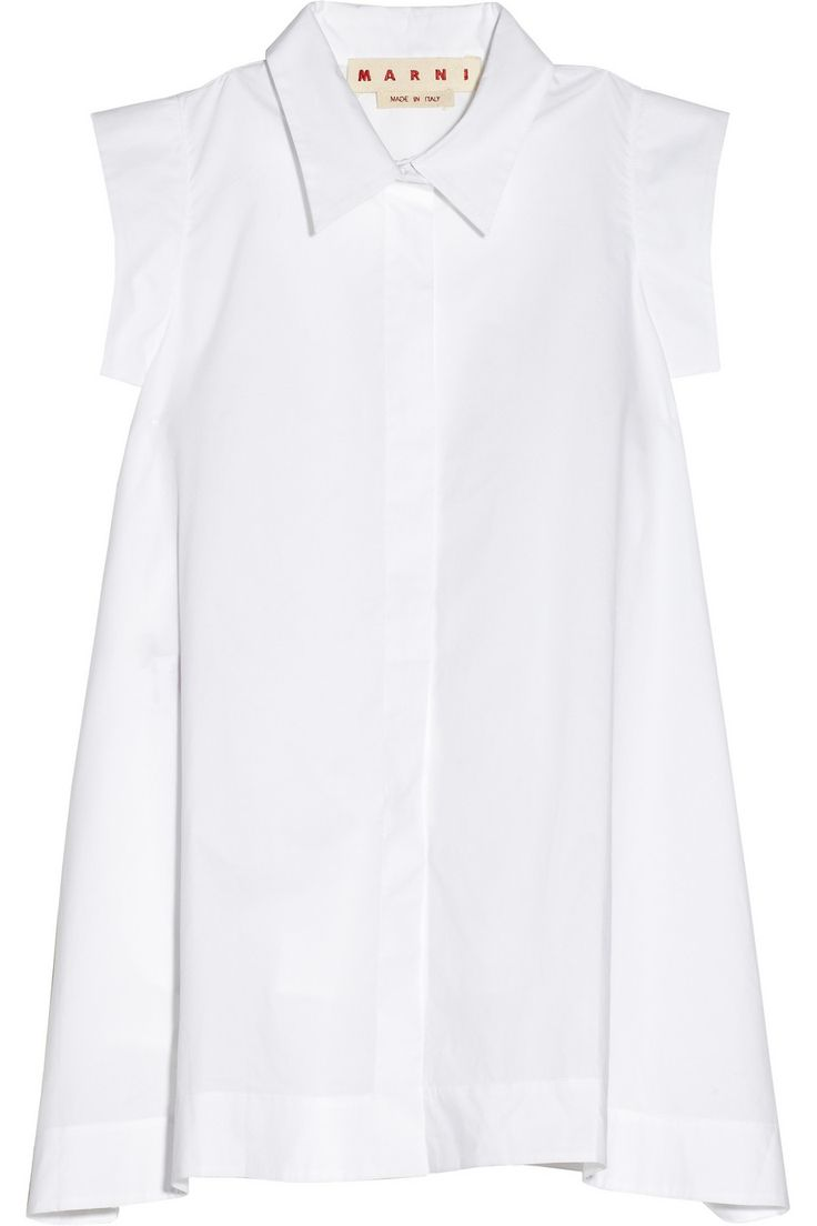 This Marni Cotton-poplin A-line shirt is so simple but very chic....x