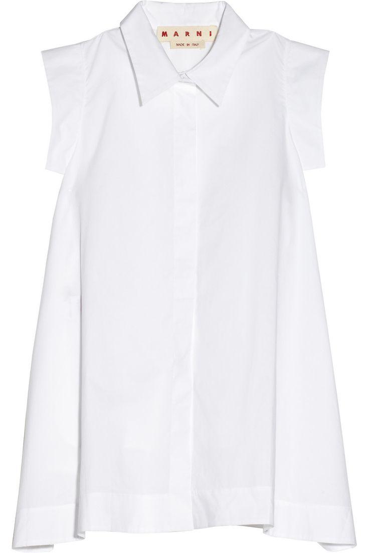 Marni|Cotton-poplin A-line shirt|NET-A-PORTER.COM