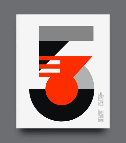 5 Seasons of Russian Avant Garde exhibition catalogue cover by Designers United