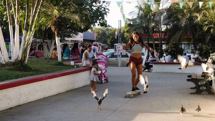 Damita skate Sayulita.    4 de enero 2017.  Sayulita Nayarit.    #damita #skate #palomita #sayulita