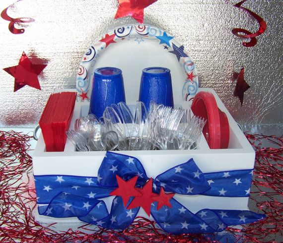 Red White & Blue Table Caddy Napkin Holder