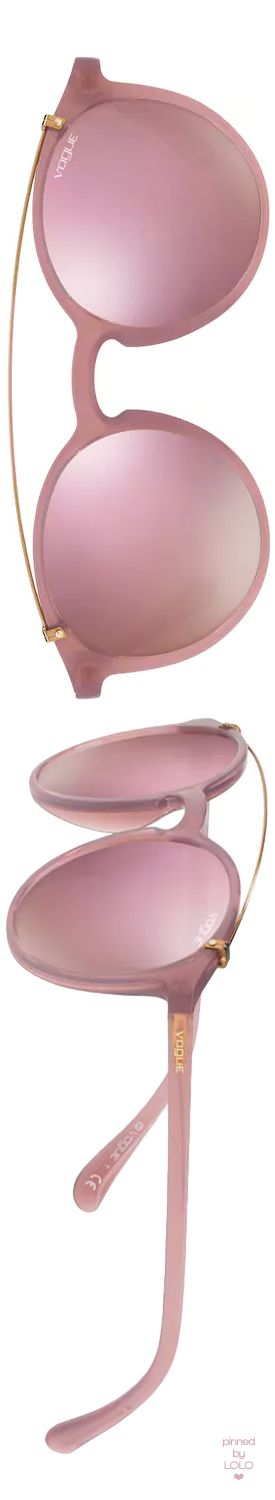 KOHL'S Vogue VO5161S 51mm Round Mirror Sunglasses shown in Opal PInk