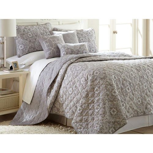 Selma Taupe Six-Piece Reversible King Quilt Set - (In No Image Available)