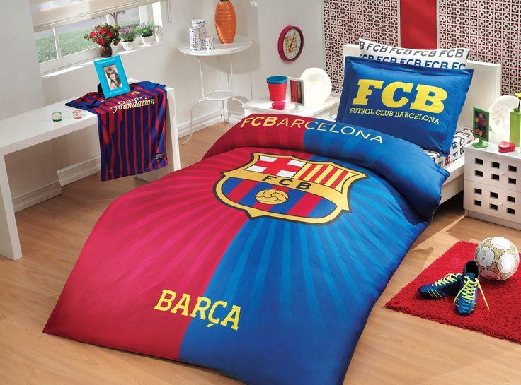 HobbyRanforceTek Kişilik Lisanslı Nevresim Takımı Barcelona Flag :: DEVesnaf