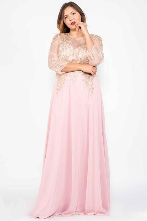 165da3fded9 Long Sleeve Dress Plus Size Formal Mother of the Bride in 2019 ...