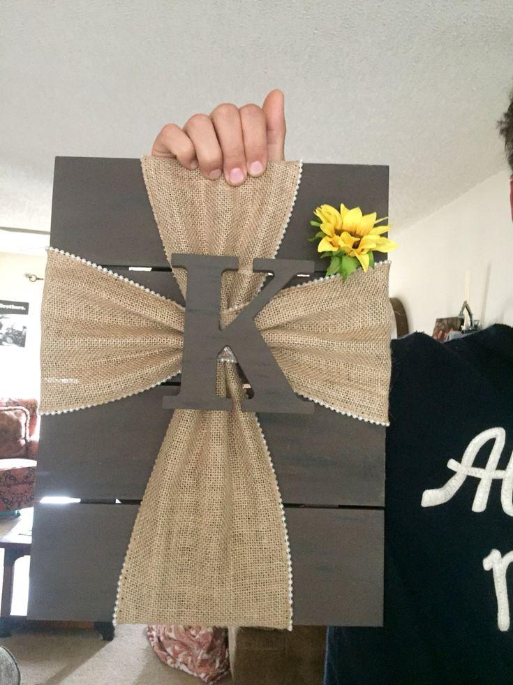 Fabric cross with wood