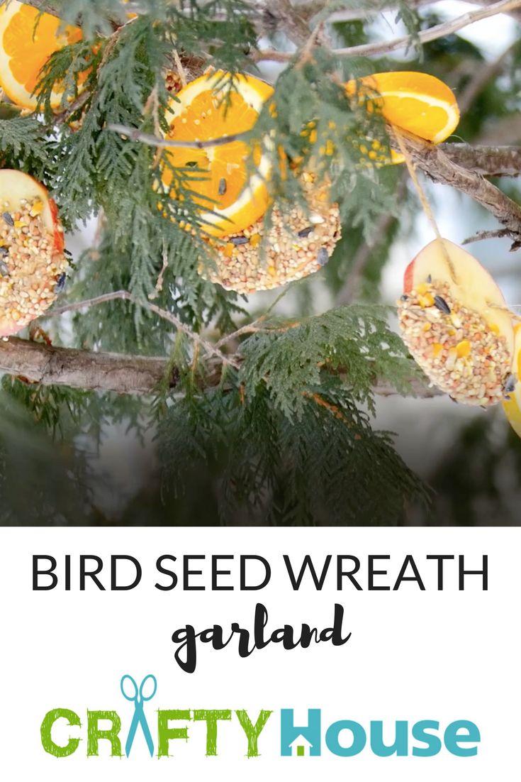 Bird seed wreath garland