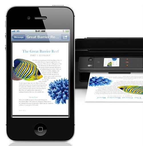 all printer types are not supported by the AirPrint feature. You need an app! http://idaconcpts.com/2012/11/19/4-printing-apps-for-iphones