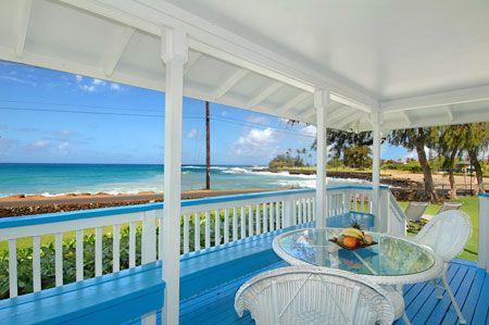 Aikane Poipu Beach Houses- Our two and three bedroom vacation rentals are located at the edge of world-famous Brennecke's Beach and Poipu Beach on the sunny south shore of Kauai, Hawaii.