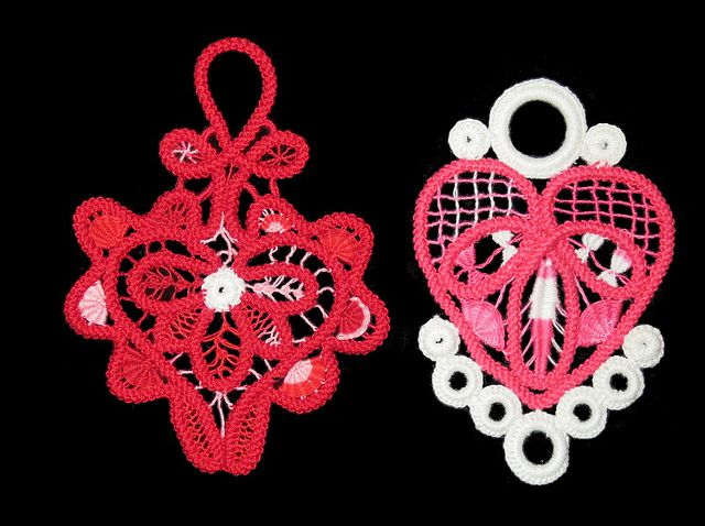 Romanian Point Lace ornaments by Sunshine's Creations