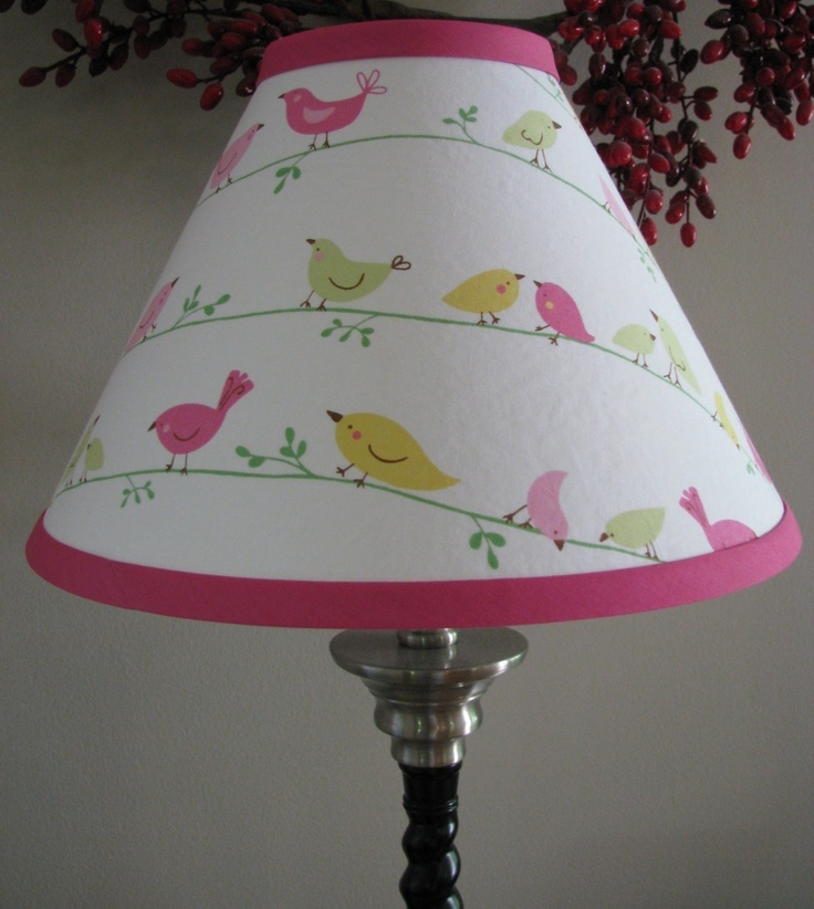 Nursery Bird Lamp Shade