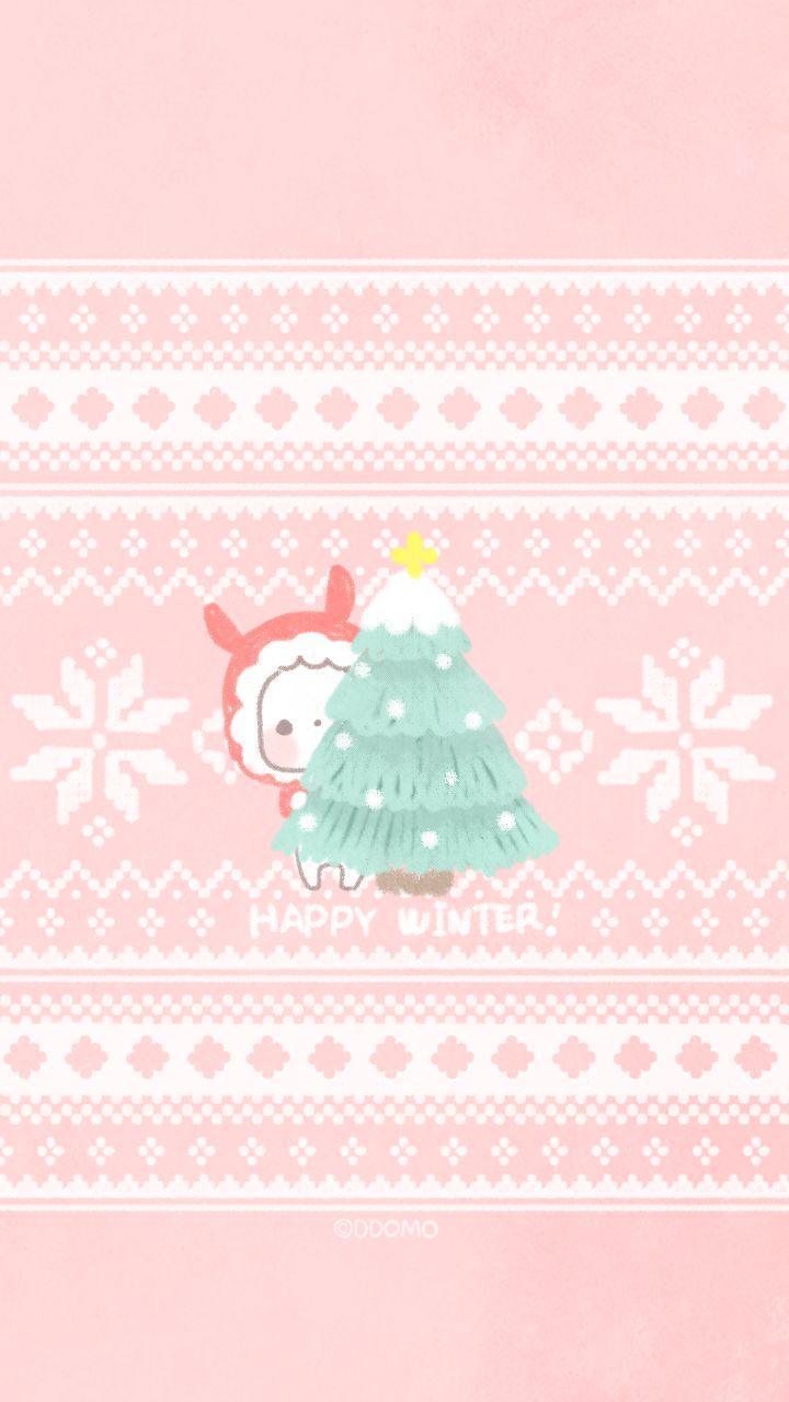 Winter Iphone Wallpapers Cartoon Art Tap To See More Korean Cartoon