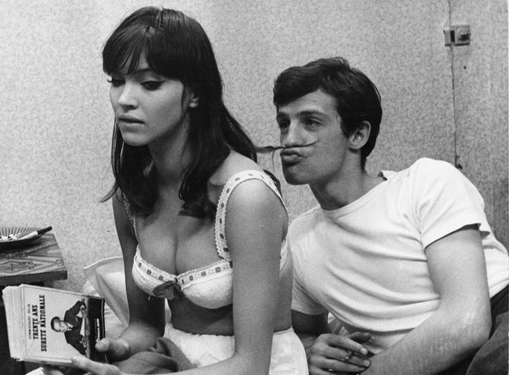 //Anna Karina and Jean-Paul Belmondo