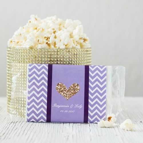 Get your bridal shower to really pop with these cute personalized popcorn bags.