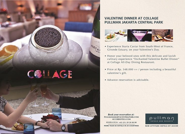 Valentine Buffet Dinner selections at Collage All Day Dining on 14-February-2013. www.pullmanjakartacentralpark.com