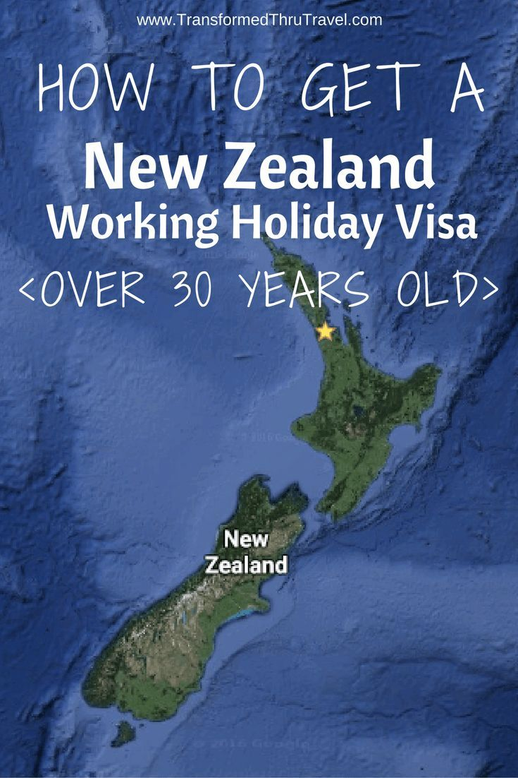 How to get a New Zealand Working Holiday Visa over 30 years old.: